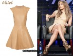 In Jennifer Lopez' Closet - Chloé Whipstitch Leather Dress