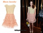 In Leighton Meester's Closet - Marc Jacobs Floral Appliqué Dress