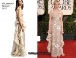 Michelle Williams In Valentino - 2011 Golden Globe Awards