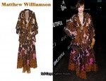In Milla Jovovich's Closet - Matthew Williamson Printed Kaftan