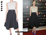 In Carey Mulligan's Closet - Preen Dress & YSL Palais Pumps