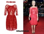 In Michelle Williams' Closet - Erdem 'Margot' Red Lace Dress