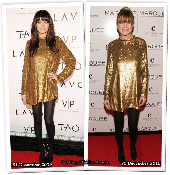 nicole richie winter kate dress. Nicole Richie was decked out