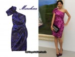 In Freida Pinto's Closet - Marchesa One Shoulder Printed Dress