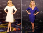 Reese Witherspoon In Giambattista Valli & Jason Wu - 2011 Avon Global Believe Tour