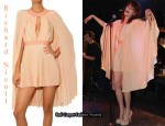 In Florence Welch's Closet - Richard Nicoll Pleated Cape Dress