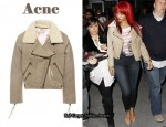 In Rihanna's Closet - Acne 'Rita' Leather Aviator Jacket