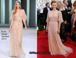 Scarlett Johansson In Elie Saab - 2011 Golden Globe Awards