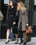 "On The ""I Don't Know How She Does it"" Set With Olivia Munn & Sarah Jessica Parker"