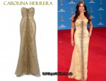 In Sofia Vergara's Closet - Carolina Herrera Strapless Gown
