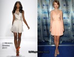 Taylor Swift In J. Mendel - 2011 People's Choice Awards