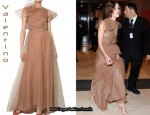 In Keira Knightley's Closet - Valentino Tulle Gown