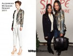 "Zoe Saldana In Alexander McQueen - ""Shape What's To Come"" Event"