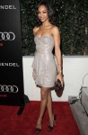 Zoe Saldana In J. Mendel - Audi And J. Mendel Celebrate The 2011 Golden Globe Awards