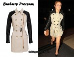 In Emma Watson's Closet - Burberry Prorsum Gabardine Trench With Leather Sleeves
