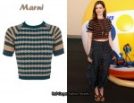 In Anne Hathaway's Closet - Marni Cropped Cashmere Jumper