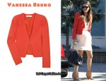 In Rachel Bilson's Closet - Vanessa Bruno Crepe Structured Shoulder Jacket