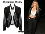 In Cameron Diaz' Closet - Theyskens' Theory Juji Glazed Leather Jacket
