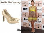 In Natalie Portman's Closet - Stella McCartney Faux Patent-Leather Cut-Out Pumps