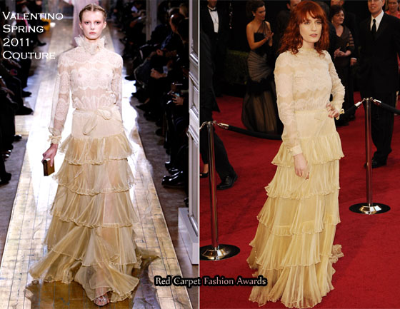 3bfa6ffeb8ffd Florence Welch In Valentino Couture – 2011 Oscars. Best British Export Award