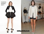 Alexa Chung In Carven - Carven Spring 2011 Collection Barney's Launch