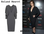 In Amy Adams' Closet - Roland Mouret Lise Stretch-Seersucker Dress