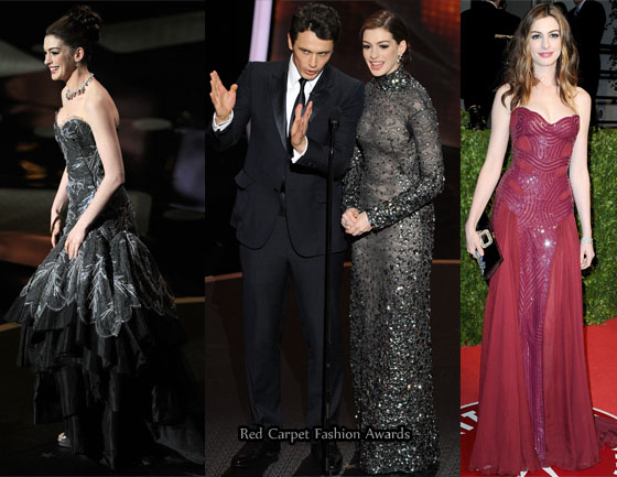Here are the rest of the looks Anne Hathaway wore whilst presenting the 2011