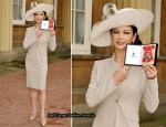 Catherine Zeta Jones In Michael Kors - Royal Investitures At Buckingham Palace