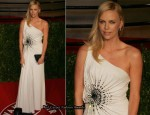 Charlize Theron In Atelier Versace - 2011 Vanity Fair Oscar Party