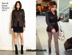 Cheryl Cole In Rag & Bone - London Heathrow Airport