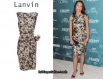 In Diane Lane's Closet - Lanvin Floral-Print Dress