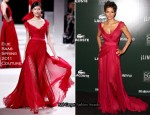 Halle Berry In Elie Saab Couture - 13th Annual Costumer Designers Guild Awards