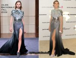 Heidi Klum In Julien Macdonald - Elton John AIDS Foundation's Oscar Viewing Party