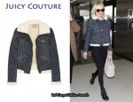 In Kate Bosworth's Closet - Juicy Couture Faux Shearling Denim Jacket