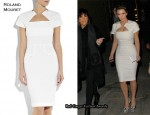 In Kim Kardashian's Closet - Roland Mouret White 'Myrtha' Dress