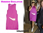 In Lady GaGa's Closet - Hussein Chalayan Appliquéd Satin Dress
