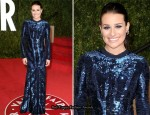 Lea Michele In Roberto Cavalli - 2011 Vanity Fair Oscar Party