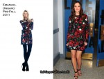"""Leighton Meester In Emanuel Ungaro - """"Late Night With Jimmy Fallon"""""""