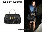 In Leighton Meester's Closet - Miu Miu Matelassé Bag