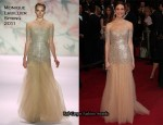 Mandy Moore In Monique Lhuillier - 2011 Oscars