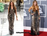 Miley Cyrus In Roberto Cavalli - 2011 Grammy Awards