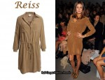 In Olivia Palermo's Closet - Reiss Lux 70s Caramel Shirt Dress