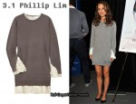 In Natalie Portman's Closet - 3.1 Phillip Lim Ruffle-Trimmed Merino Wool-Blend Sweater