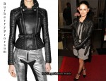In Rachel Bilson's Closet - Burberry Prorsum Quilted Leather Jacket