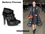 In Rachel Bilson's Closet - Burberry Prorsum Buckled Suede Ankle Boots