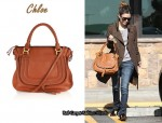 In Rachel Bilson's Closet - Chloe Marcie Leather Bag