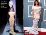 Rihanna In Jean Paul Gaultier Couture - 2011 Grammy Awards