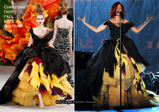 Rihanna In Christian Dior Couture - 2011 Grammy Awards ...