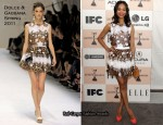 Zoe Saldana In Dolce & Gabbana - 2011 Independent Spirit Awards