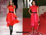 Zoe Saldana In Prabal Gurung - 2011 Vanity Fair Oscar Party